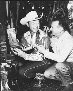 Roy Rogers wearing Double Eagles, Charlie Garrison, San Angelo boot maker.