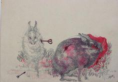 Robert Gabris Line Texture, Hue, Moose Art, Palette, Illustration, Animals, Style, Palette Table, Animales