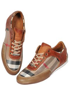 Designer Clothes Shoes | BURBERRY Men's Leather Sneaker Shoes #238