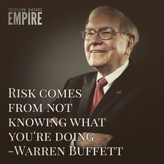 People keep on going on about risk. Well this is what the most successful investor of all time has to say about it. Smart.  Double tap if you agree!