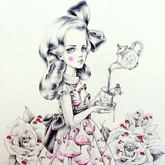 #throwbackthursday to one of my Alice drawings from around this time last year