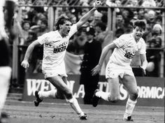 Goal celebration from 2 of our best ever Chris Waddle, Tottenham Hotspur Players, Spurs Fans, White Hart Lane, Vintage Football, North London, Great Britain, Running, Celebrities