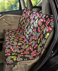 The Quilted Car Seat Cover keeps your vehicle clear of dirt and debris tracked in by furry paws. This easy-to-install, adjustable cover features 2 fabric-magic closures that keep it in place. The durable quilted fabric is water-resistant and has an appea Car Cleaning Hacks, Car Hacks, Hacks Diy, Cleaning Solutions, Back Seat Covers, Car Seat Protector, Butterfly Quilt, Butterfly Design, Diy Car