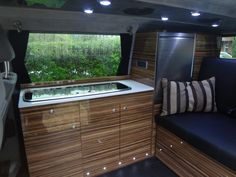 Beautiful Photo of Campervan Interior. A campervan is a particular sort of camping car. The campervan will be called a Dormobiles in the uk as well. The campervan will be known as a motor c. Toyota Hiace Campervan, Campervan Hire, Campervan Interior, Van Wall, Camper Conversion, Creature Comforts, Camper Van, Van Life, Future House
