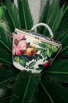 Floral box bag