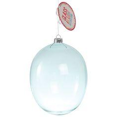 Blue Hanging Glass Balloon Large   DotComGiftShop