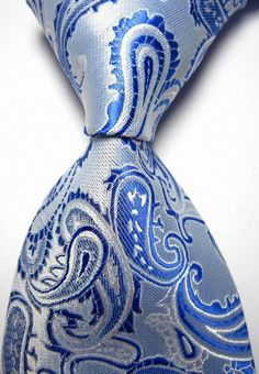 New Bright Blue Paisley JACQUARD WOVEN Men's Tie Necktie-in Ties from Apparel & Accessories on Aliexpress.com | Alibaba Group