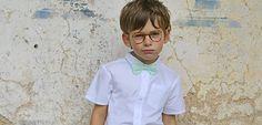Les petits Inclassables - Chemise garçon coton cérémonie et nœud papillon vert d'eau / Boy white cotton shirt and minted bow tie #ceremonie #ceremony #fashion #boy #kids #lespetitsinclassables