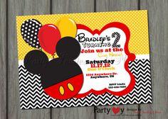 Boy Mickey Mouse Birthday Invitation by PartyInvitesAndMore, $8.00