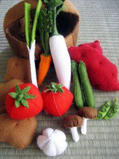 felt vegetables!
