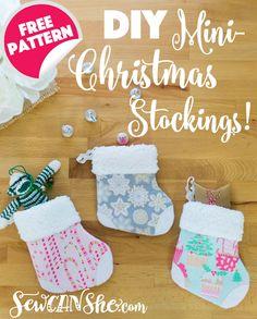 302f30676 Adorable Mini Christmas Stocking  free pattern   tutorial