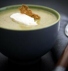Velouté de légumes verts au sarrasin / Green vegetables soup
