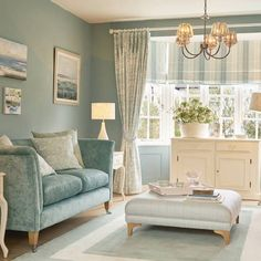 Find sophisticated detail in every Laura Ashley collection - home furnishings, children's room decor, and women, girls & men's fashion. Duck Egg Living Room, Cream Living Rooms, Living Room Sofa, Home And Living, Living Room Decor, Cream Sofa Living Room Color Schemes, Duck Egg Blue Bedroom, Bedroom Decor, Decor Room