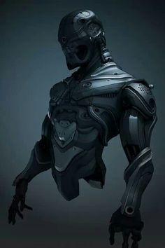 Robot or Cyborg plug-in.you decide Suit Of Armor, Body Armor, Robot Ninja, Ninja Art, Armor Concept, Concept Art, Armadura Sci Fi, Character Concept, Character Art