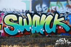 swank graffiti piece wall los angeles