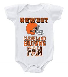 NEW Football Baby Bodysuits Creeper NFL Cleveland Browns