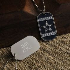 Personalized True Colors Engraved NFL Dog Tag Necklace for Men, show your loyalty to the boys on the gridiron with these custom personalized NFL Dog Tags Each includes team name and logo as well as a long, easy-on-and-off chain and plenty of room for personalization.  Choose your favorite team and wear it during football season and all year round All NFL teams available.