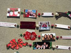 repurpose christmas cards | Repurpose old Christmas cards rings and things