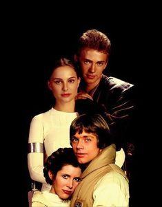 Skywalker family portrait. Anakin, Padme, Leia, and Luke