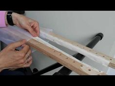 tambour beading part 4 mounting the embroidery frame EN - YouTube