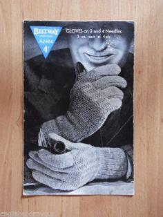 Bestway 2464 4 Ply GLOVES - Vintage Knitting Pattern