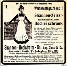 Werbung - Original-Werbung/ Anzeige 1908 - BÜCHERSCHRANK / AUGUST ZEISS - BERLIN - ca. 90 x 90 mm