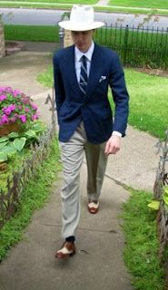 The Houndstooth Kid: WIW: the 1930s in Blue  vintage 1930s men's belted back jacket sports coat suit
