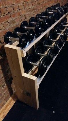 diy dumbbell rack  working on my fitness  pinterest  at