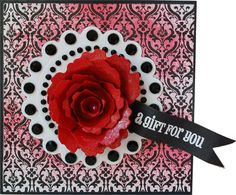 Rolled Rose card