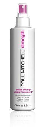 Super Strong Liquid Treatment UV ışınlarını emici maddelerle ve denizden elde edilmiş bitki özleri bileşimi ile formüle edilmiş güçlendirici günlük bakım. Kütiküllerin korunmasına yardımcı olur, proteinleri yeniler, esnekliği artırır ve saç uçlarının kırılma direncini artırır. İlk uygulamada saçı %60′a kadar güçlendirir. Tekrarlayan uygulamalarda saç %90 daha güçlenir!