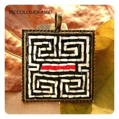 piccolomosaico - labyrinth pendant for men - ミクロモザイクペンダント