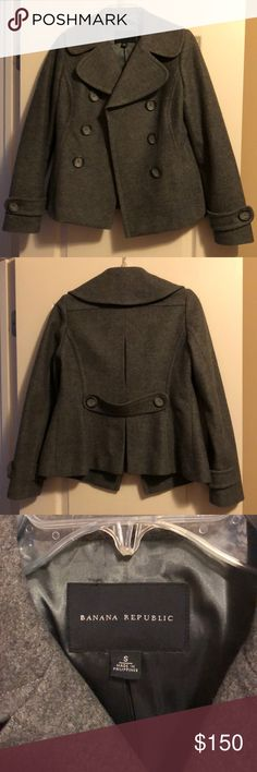 Banana Republic Pea Coat Great condition. Pet and smoke free home. Banana Republic Jackets & Coats Pea Coats
