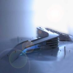 Bjarke Ingels Group, has created a master plan for a ski resort that gives access to the pistes directly from the hotel or apartment. The organization of the streets makes it possible to ski or snowboard freely through the complex. The pistes have been made steep enough for skiers to reach the lift from their apartments or rooms in the morning before ending at their doorsteps in the evening.