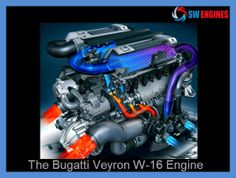 The Bugatti Veyron W-16 engine is like a crazy experiment - with 64 valves and 4-turbo chargers producing over 900 lbs of torque.