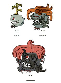 Pokémon Drawn In The Style Of Mayan Illustrations - DesignTAXI.com