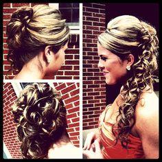 bridesmaid hair? so pretty!