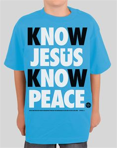 """""""Know Jesus, Know Peace. No Jesus, No Peace."""" This clever saying has floated around Christian circles for quite a while, and NOTW [?] is glad to have created a cool design for our fans featuring this phrase. It is simple: if you know Jesus, you will experience the peace that comes with knowing Him. If you do not know Jesus, you will continue searching all your life for a peace and love that can only be found in Him."""