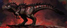 this t rex looks so awesome. Jurassic World Hybrid, Jurassic Park World, Cool Dinosaurs, Jurassic World Dinosaurs, Fantasy Monster, Monster Art, Creature Concept Art, Creature Design, Fantasy Beasts