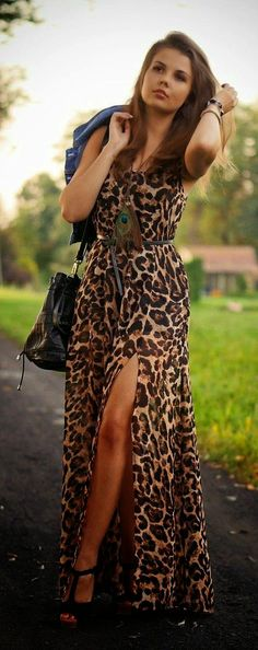 Stylish leopard print dress. Find similar stylish clothes and accessories at…