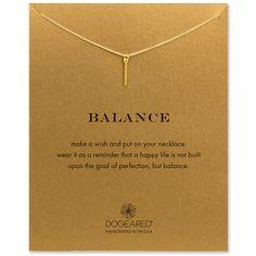 balance vertical bar necklace, gold dipped - Dogeared