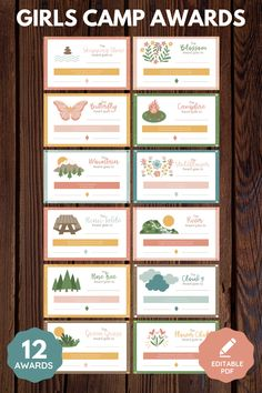 Enhance lds Girls Camp! These girls camp awards are non-food and emphasize young women's strengths with a nature theme. Editable pdf. Perfect for YCLs, awesome for your Latter-Day Saint camp! 12 total certificates. Printable instant download. Spiritual and fun message! Girls Camp Awards, Lds Blogs, Secret Sister Gifts, Strength Of A Woman, Women Of Faith, Scripture Study, These Girls, Young Women, Spiritual