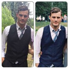 Jamie Dornan fan pics from the set of Anthropoid (credit to tessie93 and adel_oudranova on Instagram)