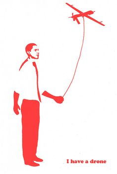 IVAW No War on Syria-Drone Kite Red 2-Nicolas Lampert