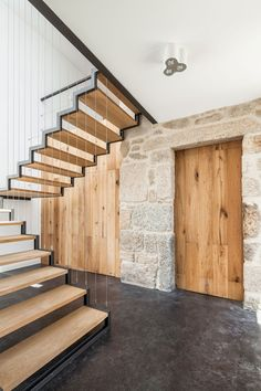 casa ja addition + renovation - guarda - filipi pina + maria ines costa - 2014 - int stair - photo joao morgado