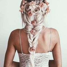 #hair #hairstule #braids #flowers #beauty #beautyinthebag