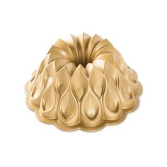70th Anniversary Crown Bundt Pan in limited edition gold metallic finish- Nordic Ware