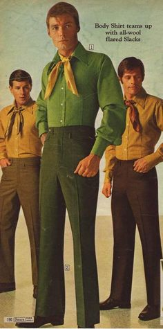 Late 1960s Mens Fashions...