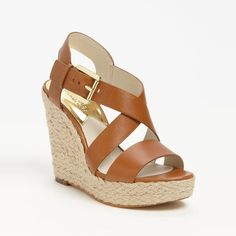 Best Brown Wedge Sandals - Michael Michael Kors Giovanna Wedge
