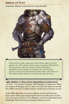 Tagged with dnd, dungeons and dragons; Dungeons And Dragons Rules, Dnd Dragons, Dungeons And Dragons Characters, Dungeons And Dragons Homebrew, Dnd Characters, Fantasy Magic, Fantasy Armor, Fantasy Weapons, Magic Armor
