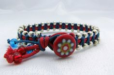 Knotted and beaded bracelet by WildWhippet from Malta